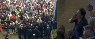 Ponte Morandi, ovazione per Salvini e Di Maio ai funerali di Stato. Gelo sugli esponenti Dem. Martina (Pd) contestato