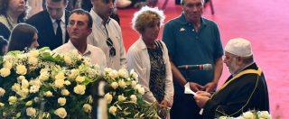"""Morandi, l'Imam ai funerali di Stato """"in nome del Dio unico"""": """"Il signore protegga l'Italia. Genova la bella si rialzerà"""""""