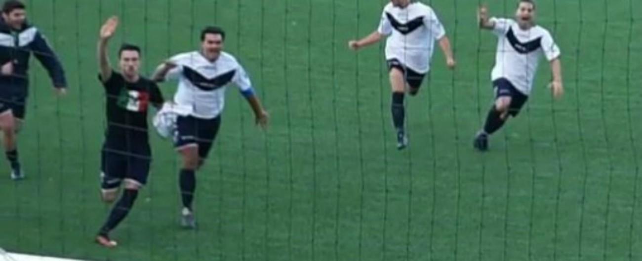 Marzabotto, archiviato il calciatore dilettante denunciato per apologia del fascismo dopo il saluto romano