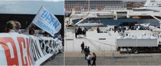 Catania, la nave Diciotti arriva in porto: nessuno sbarco per i 177 migranti. Proteste a terra contro la linea di Salvini
