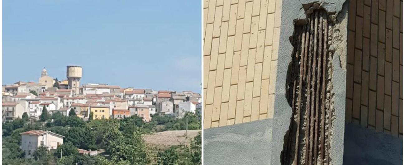 """Terremoto Molise, Borrelli: """"Chiederò lo stato di emergenza"""". A Montecilfone """"il serbatoio d'acqua instabile, da abbattere"""""""