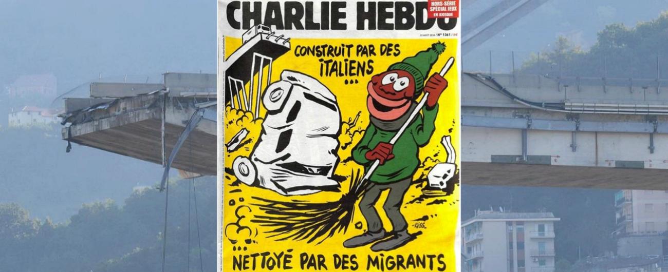 Risultati immagini per Charlie Hebdo pote morandi fatto quotidiano