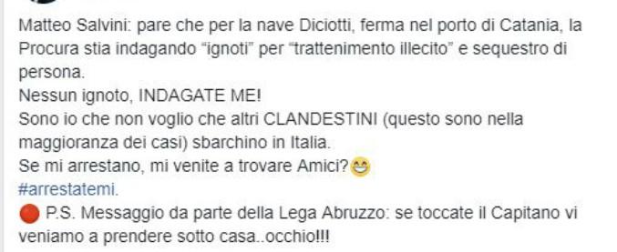 """Diciotti, il deputato della Lega ai magistrati: """"Se toccate Salvini veniamo a prendervi sotto casa"""""""