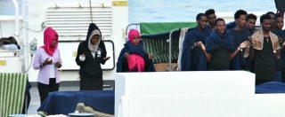 Diciotti, il canto di ringraziamento delle donne migranti bloccate sulla nave. L'audio di Radio Radicale