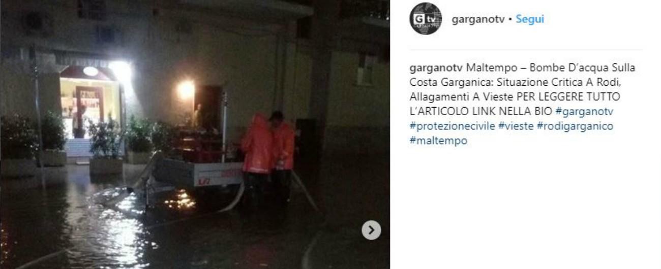 Maltempo Gargano, grandine e nubifragi: danni a linea ferroviaria e campeggi evacuati