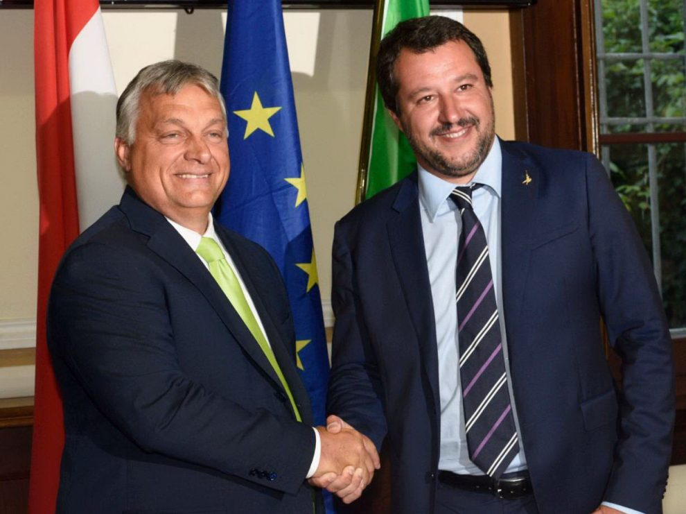 Резултат с изображение за orban e salvini