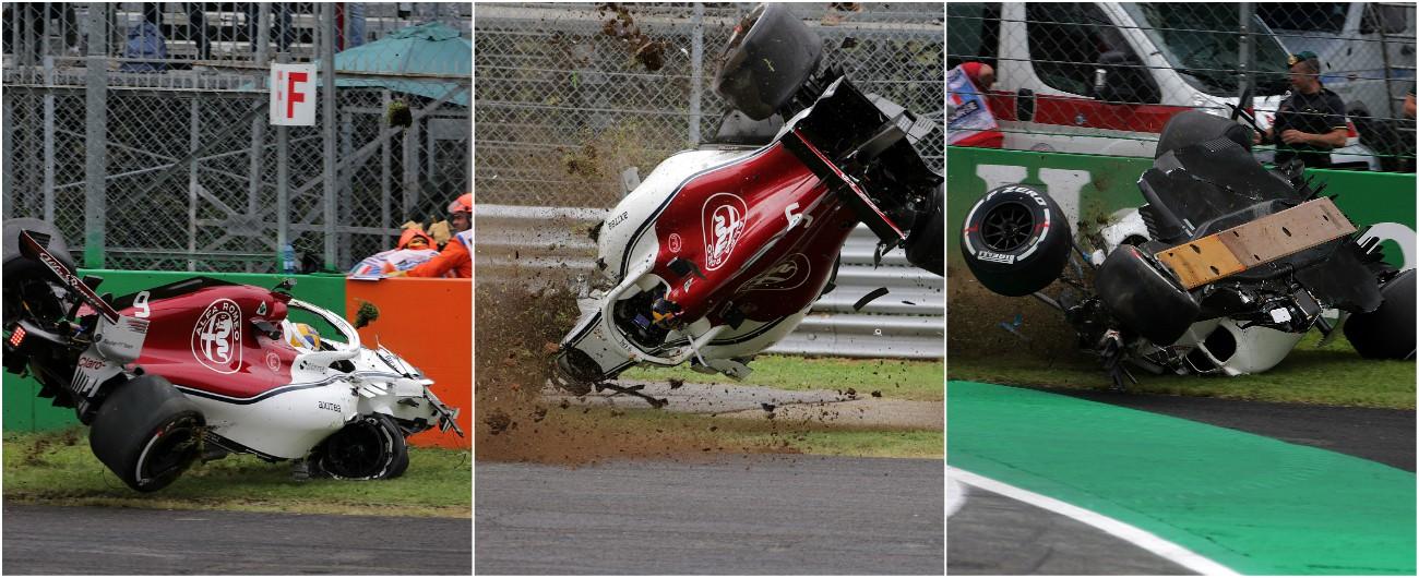 Formula 1, Gp Monza: pauroso schianto per Ericsson durante le prove. La sua Sauber è distrutta, il pilota illeso [VIDEO]