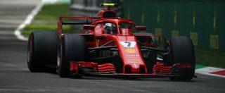 Formula 1, Gp Monza: prima fila tutta Ferrari dopo 18 anni. Pole position a sorpresa di Raikkonen davanti a Vettel