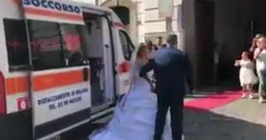Matrimonio In Ambulanza : Bergamo al matrimonio in ambulanza ma incontra un ferito e lo