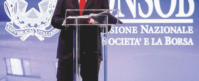 """La Ue scarica Nava: """"In Consob per conto della Commissione"""""""