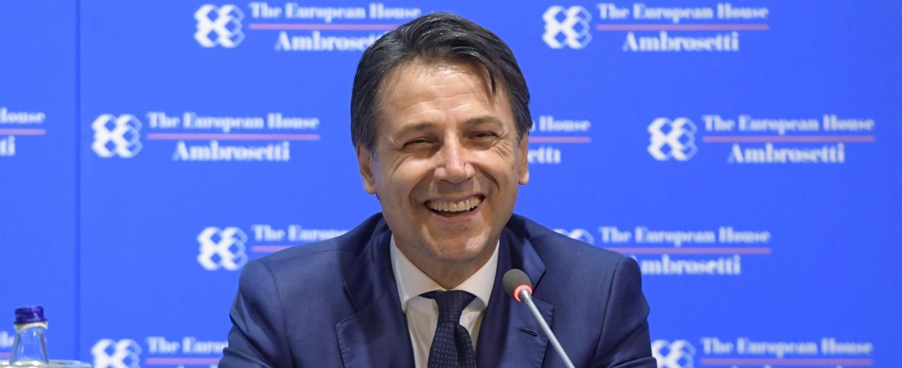 """Cernobbio, Conte rassicura gli imprenditori: """"Manovra con misure graduali, nessun piano anti-euro"""""""