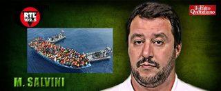 """Migranti, Salvini: """"Entro l'autunno accordi di espulsione con Paesi africani. Altrimenti ci mettiamo 80 anni per rimpatri"""""""