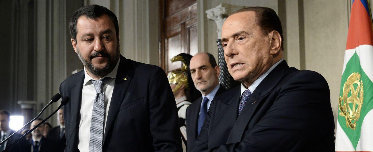 """Il centrodestra si sgretola, Berlusconi: """"Clima illiberale"""". Salvini: """"Sciocchezze da burocrati Ue e frustrati di sinistra"""""""