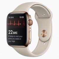 Foto di presentazione dell'Apple Watch Series 4.