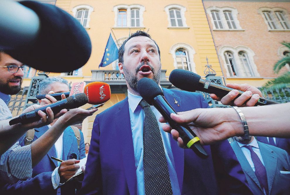 Vicepremier – Il ministro dell'Interno, Matteo Salvini