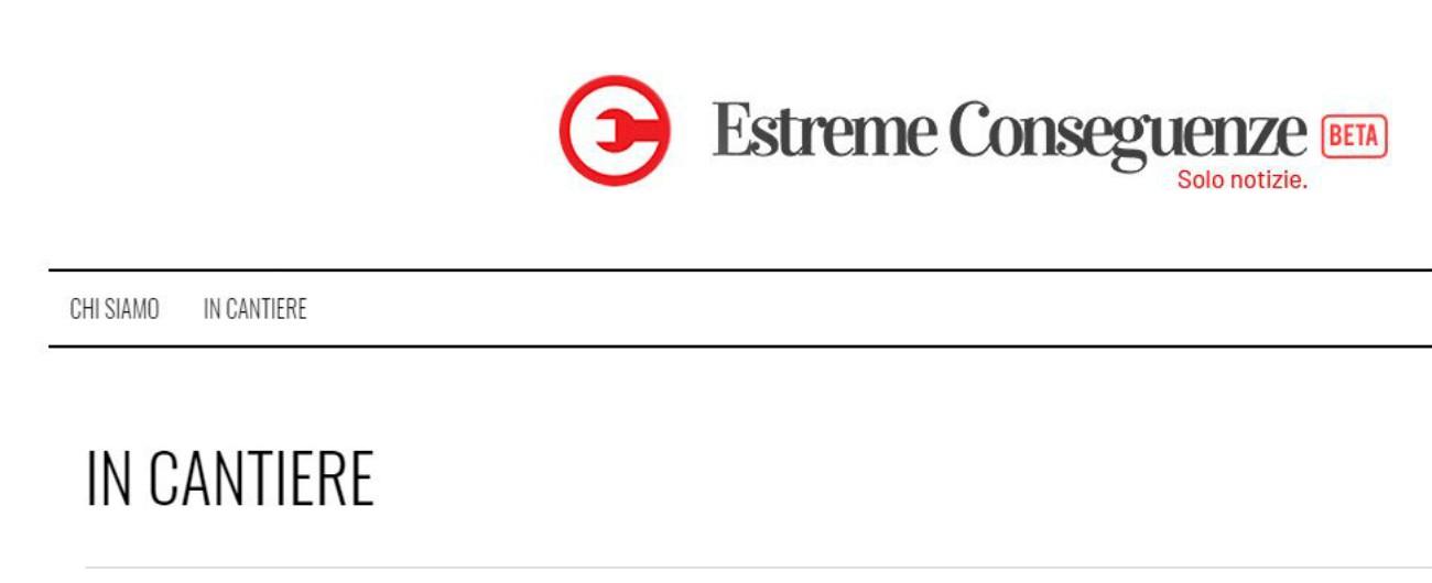 """Editoria, nasce la testata online Estreme Conseguenze: """"Pubblicheremo solo notizie originali"""""""