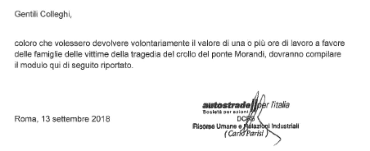 """Ponte Morandi, polemica su Autostrade """"Chiede a lavoratori colletta per vittime"""". """"No, iniziativa volontaria dei dipendenti"""""""