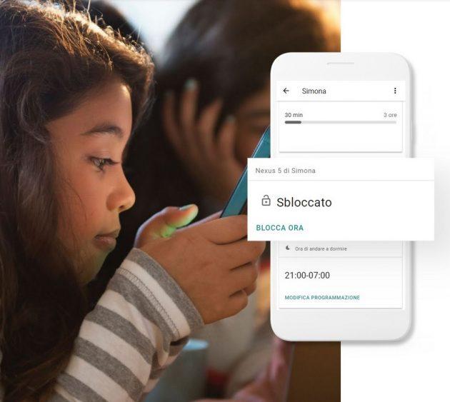 Google |  blocca lo smartphone di mio figlio! Cinque minuti e il gioco è fatto