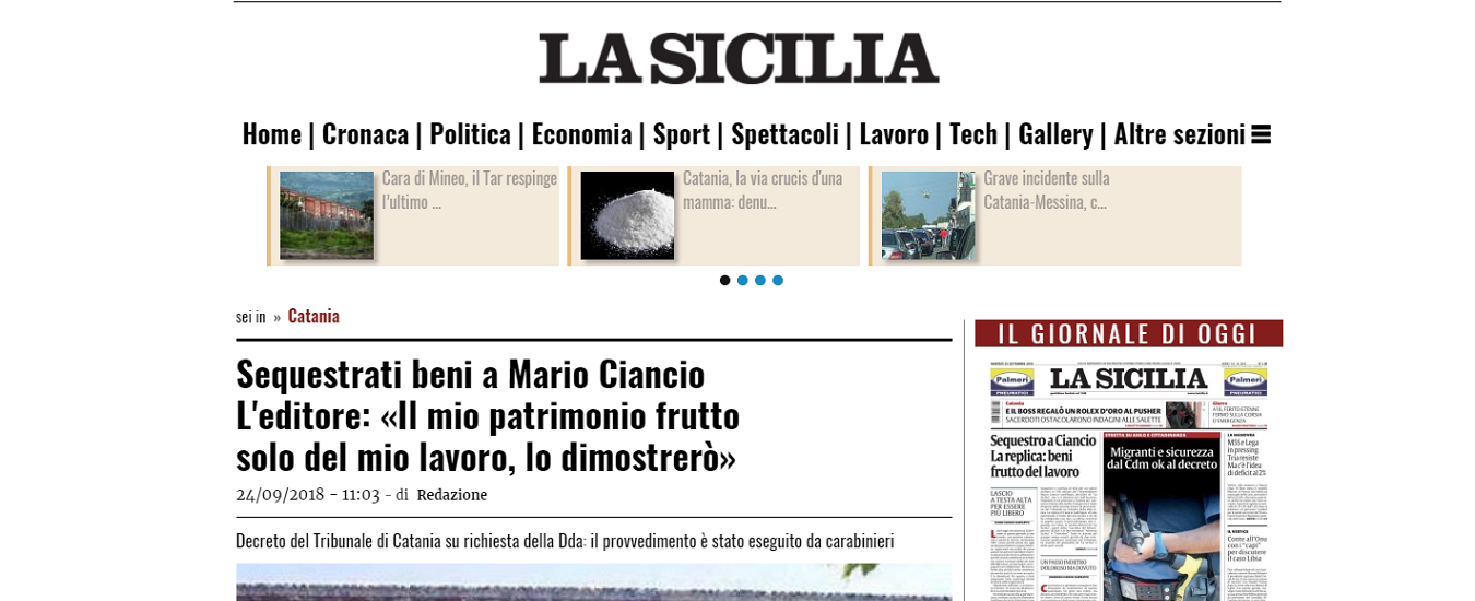 Catania, la procura sequestra il sistema Ciancio. Intorno chi dovrebbe parlare, tace