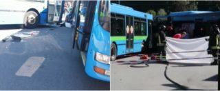 Gazzaniga (Bergamo), scontro tra bus all'uscita da scuola: morto un ragazzino. L'incidente ripreso da uno studente