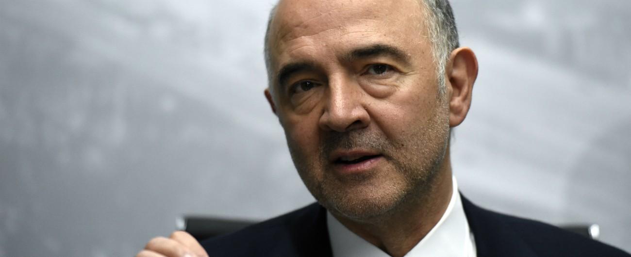 """Def, Moscovici: """"E' fuori dai paletti, ma no a crisi con l'Italia"""". Conte: """"Non facciamo manovra su attese dei commissari Ue"""""""