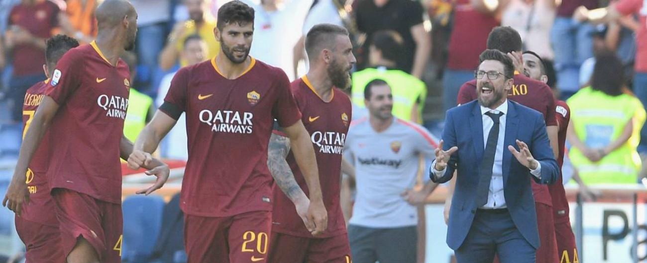 Roma-Lazio 3-1, ai giallorossi il derby della capitale: Di Francesco salva la panchina