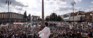 """Il Pd manifesta a Roma contro il governo. Martina: """"Abbiamo capito la lezione del 4 marzo"""". La piazza urla: """"Unità, unità"""""""