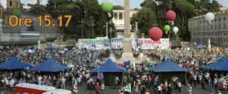 """Pd, manifestazione riuscita in piazza del Popolo. Ma quante persone c'erano? Gli organizzatori: """"Eravamo 70mila"""""""
