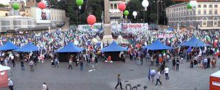 """Pd in piazza contro il governo, le immagini della manifestazione dall'alto: """"200 pullman e 6 treni"""""""
