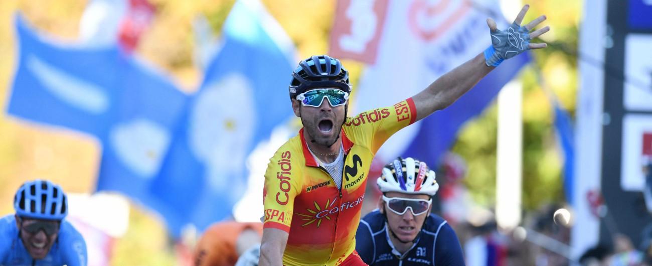 Mondiali ciclismo, a Innsbruck vince Valverde: delusione Italia, Moscon è 5°