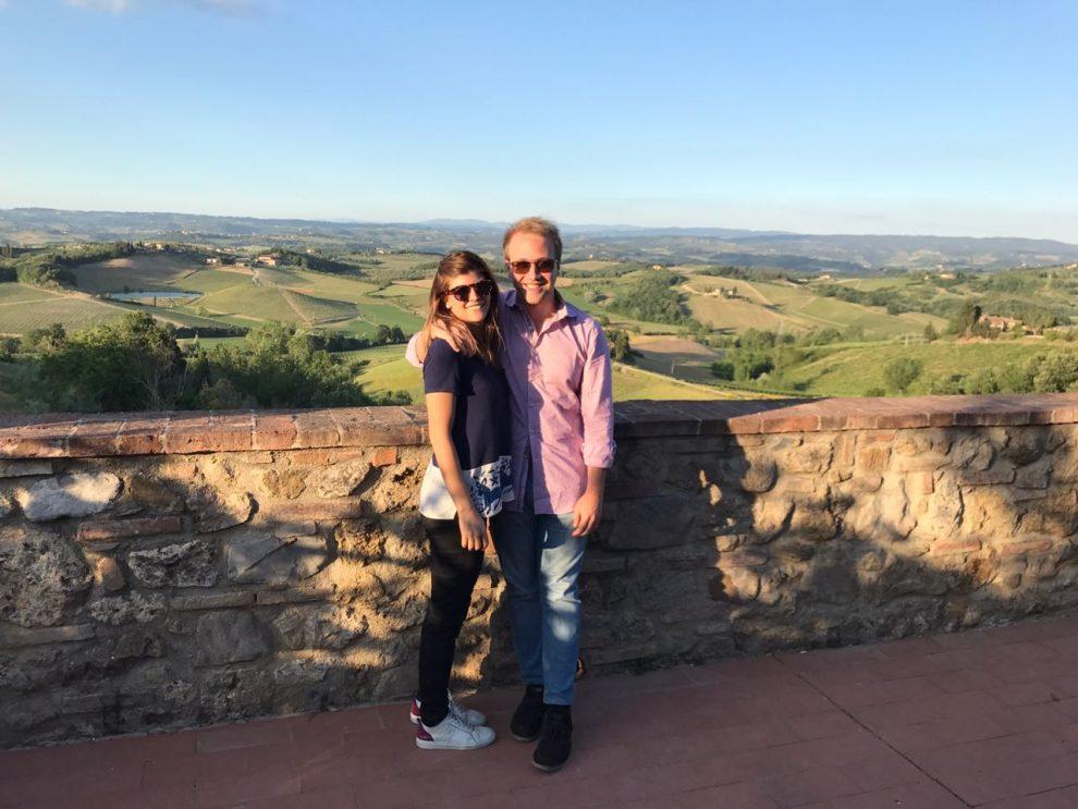 Riccardo con la fidanzata Catalina