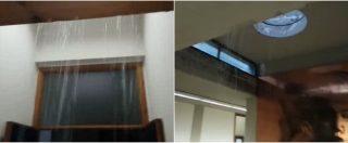 Catania, tribunale vittima del maltempo: cascate d'acqua negli uffici della cancelleria