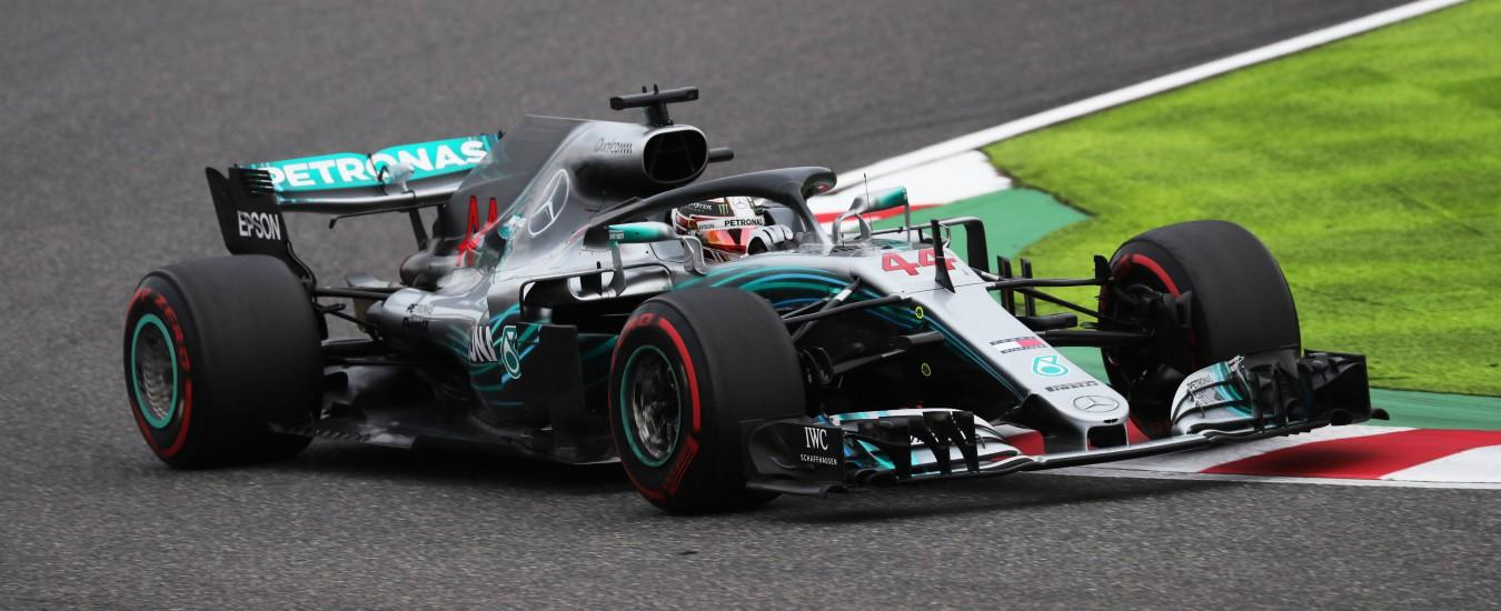 Formula 1, in Giappone pole per Hamilton davanti a Bottas. Male Raikkonen e Vettel