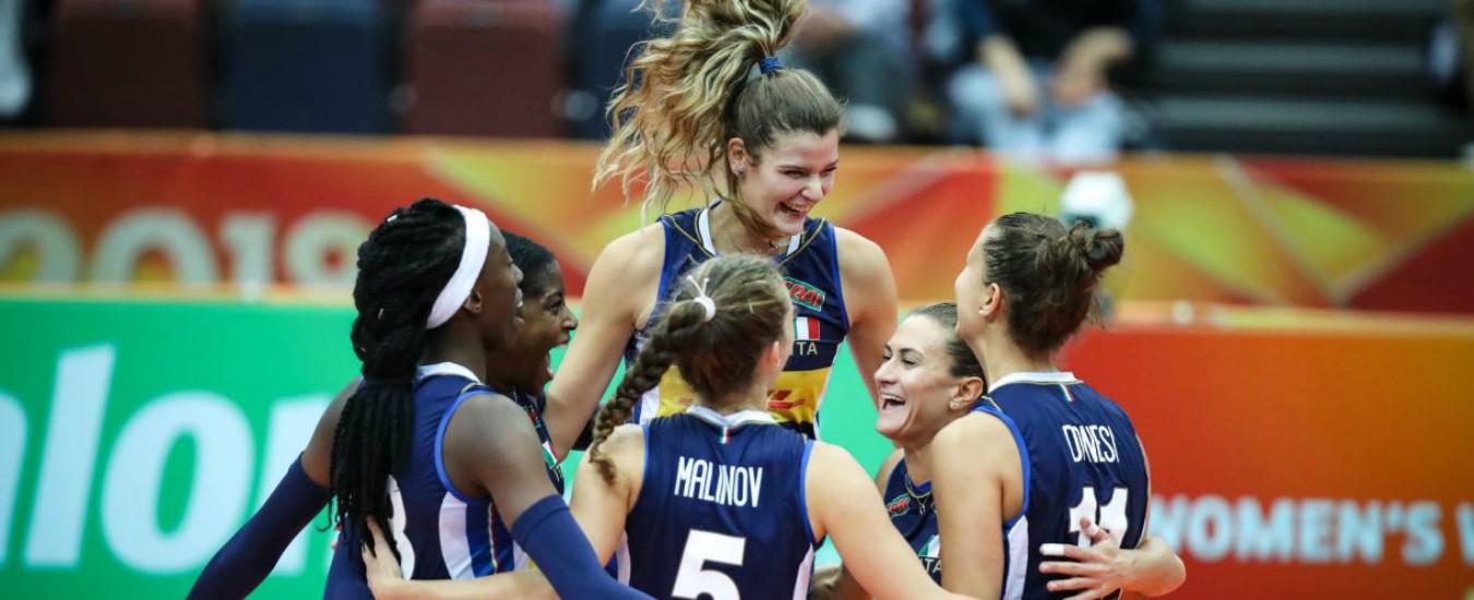 Mondiali volley, le azzurre battono anche l'Azerbaigian: sesta gara senza sconfitte