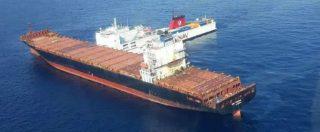 """Incidente navi, Greenpeace: """"La macchia nera è estesa per oltre 100 km quadrati nel Santuario dei cetacei"""" – FOTO"""