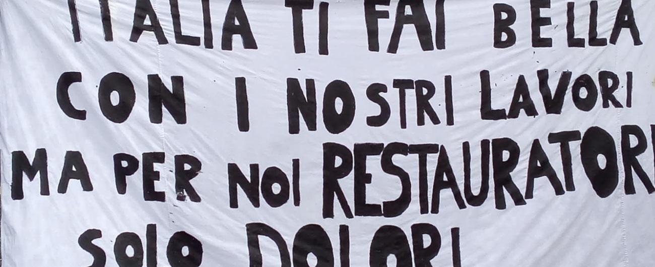 """Roma, la cultura in piazza. Attori, cantanti, archeologi e restauratori: """"Senza di noi Paese non ha futuro"""""""
