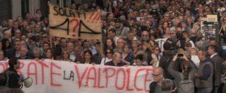 """Genova, la protesta di commercianti e sfollati: """"Siamo dietro a un muro. Aprite le strade o blocchiamo la città"""""""