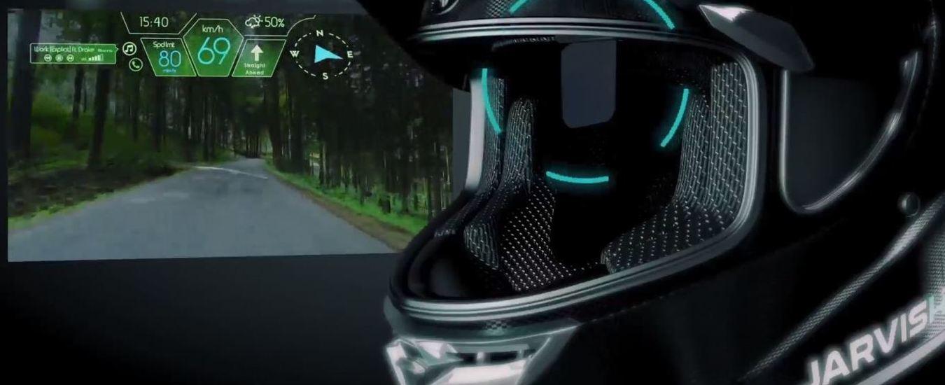 Motociclisti come Iron Man con il casco intelligente Jarvish