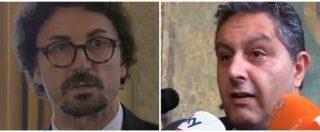 """Genova, Toninelli: """"Non contestate il decreto, scritto col cuore"""". Toti: """"Speriamo sia scritto anche con il cervello"""""""