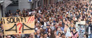 """Genova, i commercianti in piazza con gli sfollati: """"Isolati, rischiamo di chiudere"""". A Toninelli: """"Non raccontateci bugie""""  – FOTO e VIDEO"""