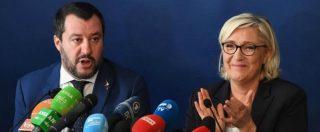 """Salvini e Le Pen insieme a Roma: """"Juncker e Moscovici i nemici dell'Europa"""". Poi: """"Lavoriamo a candidati comuni europei"""""""