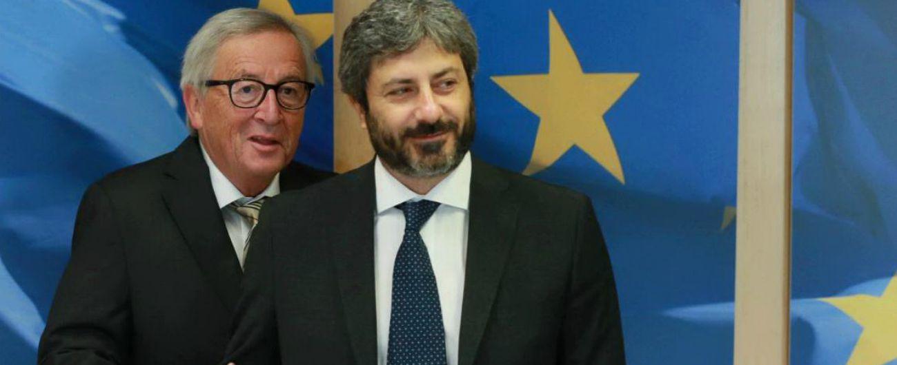 """Incontro Fico-Juncker """"per raffreddare la temperatura"""": """"Concordi sull'Italia nel cuore del progetto europeo"""""""