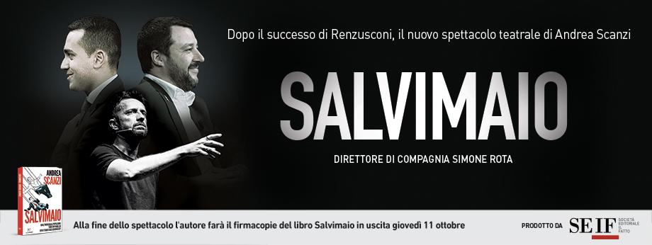 Salvimaio, il nuovo spettacolo di e con Andrea Scanzi. Le date del tour