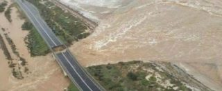 Sardegna, esonda il rio Santa Lucia: crolla ponte sulla statale 195 tra Cagliari e Capoterra – FOTO E VIDEO