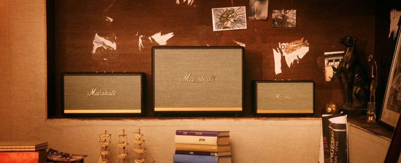 Marshall, altoparlanti wireless Bluetooth per chi ama il rock. Design iconico ma si parte da 249 euro. Che direbbero gli Who?