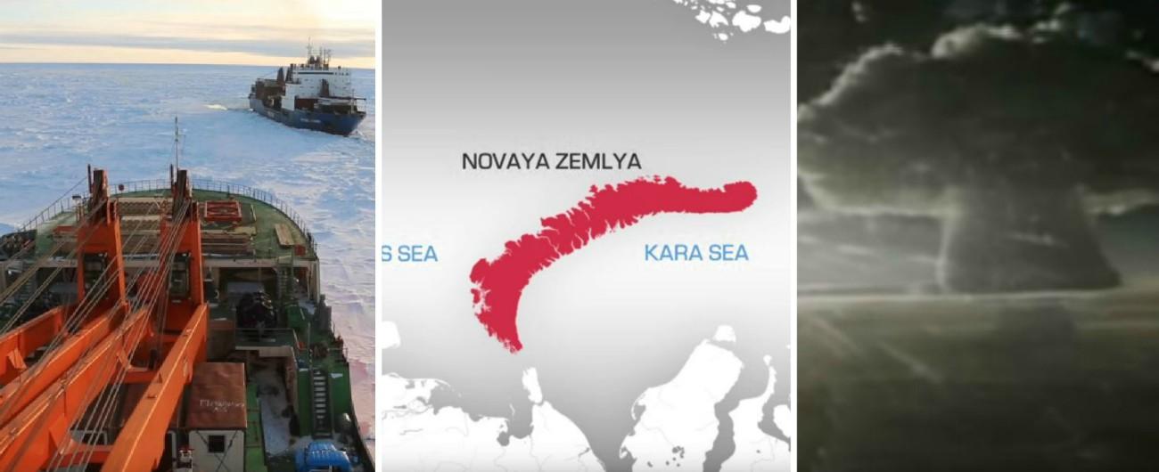 """Russia, Istituto di oceanologia: """"Ghiacciai dell'arcipelago utilizzato per test nucleari si stanno sciogliendo: sono radioattivi"""""""