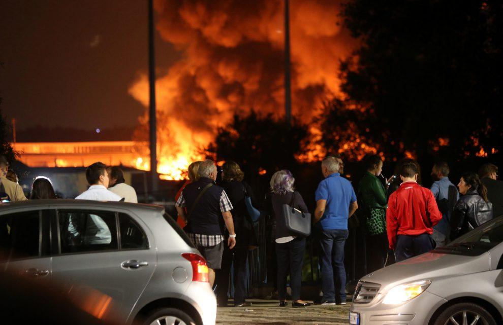 Foto LaPresse – Stefano Porta 14/10/2018 Milano ( Mi ) Cronaca Incendio Via Chiasserini