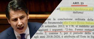 Decreto Fisco, l'articolo fantasma pro Croce rossa: 84 milioni all'insaputa di Conte e ministri. Poi il premier lo stralcia