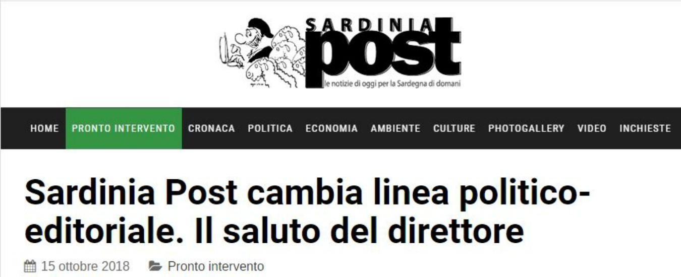 """Sardinia Post, l'editore chiede un cambio di linea politica. E il direttore se ne va: """"Non sarò neutrale verso gli xenofobi"""""""