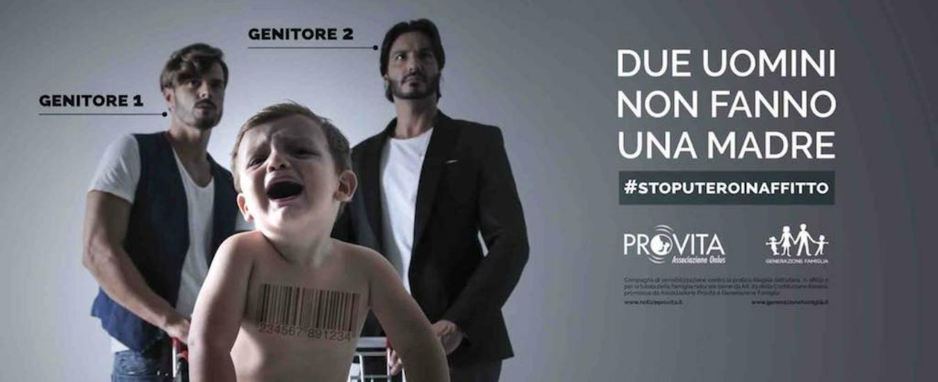 Manifesto ProVita: 'Due uomini non fanno una madre'. Perché l'Italia ha paura dei padri gay